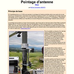 pointage d'antenne