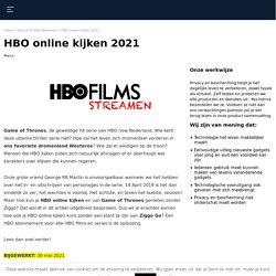 HBO online kijken