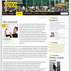 VOX: Wouter Sanderse Hbo-onderzoek