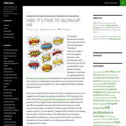 HBR: It's Time to 'Blow Up' HR - HRE Daily