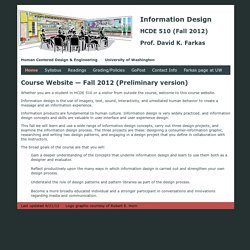 HCDE 510 Information Design - Farkas