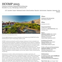 HCOMP 2013
