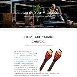 HDMI ARC : Mode d'emploi