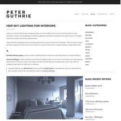 HDR Sky Lighting for Interiors