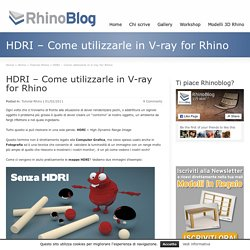 HDRI – V-ray for Rhino
