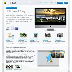 "HDRtist ""HDR Software will never be the same"" - Ohanaware"