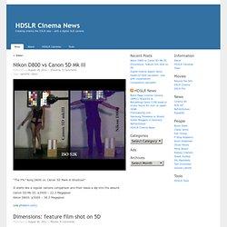 HDSLR Cinema News