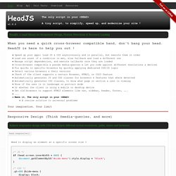 Head JS :: The only script in your HEAD