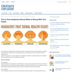 This Is How Headaches Reveal What Is Wrong With Your Health - Creativity Explosion - DIY & crafts, food, tips & hacks, health, reuse & recycle, fashion & beauty