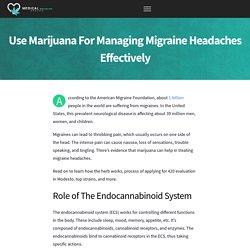 Manage Migraine Headaches Effectively With Marijuana
