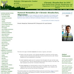 Chronic Headaches NYC Natural Migraine Remedies, Dr. Louis Granirer