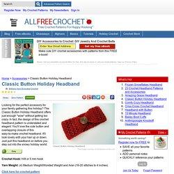 Classic Button Holiday Headband