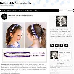 Easy 3 Strand Crochet Headband