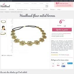 Headband fleur métal bronze