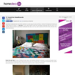 11 Inventive Headboards | Interior Design | Ideas and Inspirations | homedeco2u