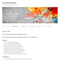 Free Web Headers