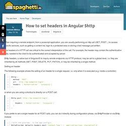 How to set headers in Angular $http - Spaghetti.io