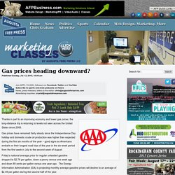 Gas prices heading downward? : Augusta Free Press