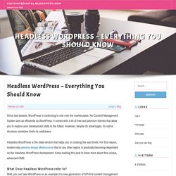 Headless WordPress – Everything You Should Know