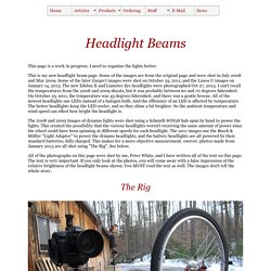headlight beams from Peter White Cycles