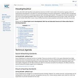 Headlights2012 - W3C Wiki