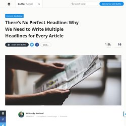 How to Write a Headline for Facebook, Twitter and Search