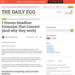 Headline Formulas That Convert