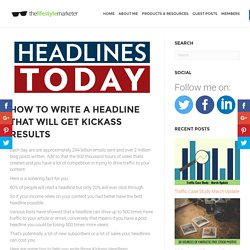 How to Write a Headline That Will Get Kickass Results