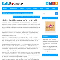Kiwis enjoy 122-run win as Sri Lanka fold