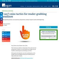 7 can't-miss tactics for reader-grabbing headlines - Ragan Communications