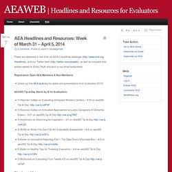 Headlines and Resources for Evaluators - AEAWEB