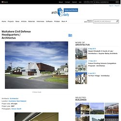 Waitakere Civil Defence Headquarters / Architectus