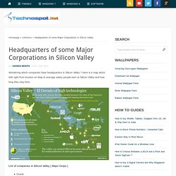 Headquarters of some Major Corporations in Silicon Valley