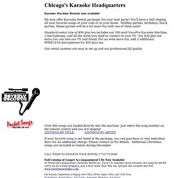 karaoke machine rental in chicago