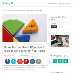 Know The Five Heads Of Income In India To Save Better On Your Taxes