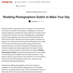 Wedding Photographers Dublin to Make Your Day