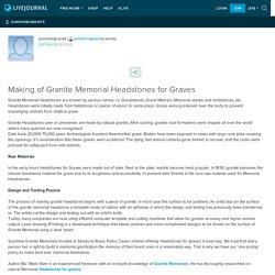 Making of Granite Memorial Headstones for Graves