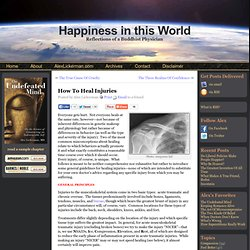 Happiness in this World » How To Heal Injuries