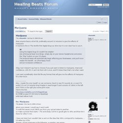 Healing Beats Forum • View topic - Marijuana