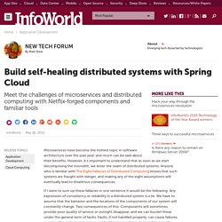 Build self-healing distributed systems with Spring Cloud