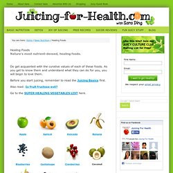 Healing Foods List