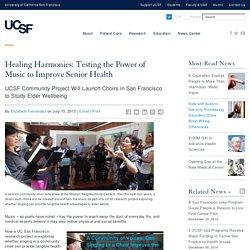 Healing Harmonies: Testing the Power of Music to Improve Senior Health