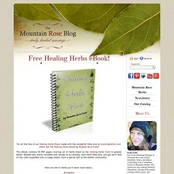 Free Healing Herbs eBook!