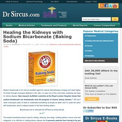 Healing the Kidneys with Sodium Bicarbonate (Baking Soda)