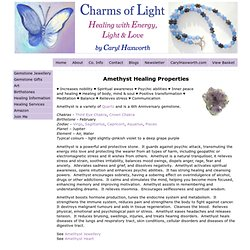 Healing Properties of Amethyst at Charms Of Light