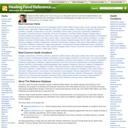 Healing herbs reference database