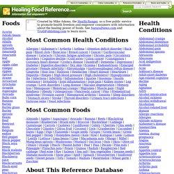 Healing foods reference database