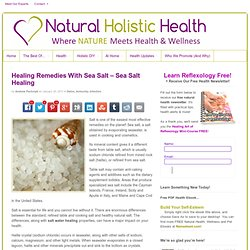Healing Remedies With Sea Salt – Sea Salt Healing