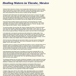 Healing Waters in Tlacote Mexico
