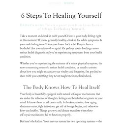 6 Steps To Healing Yourself : zen habits